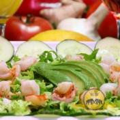 Salade de crevette et avocat